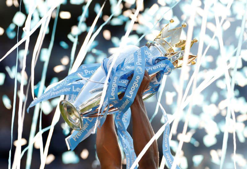 FILE PHOTO: Premier League trophy