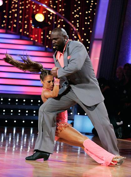 "Lawrence Taylor and Edyta Sliwinska perform the Jive to ""Ain't That Peculiar"" by Marvin Gaye on ""Dancing with the Stars."""