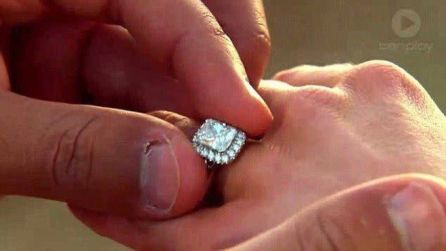 Bachelor Australia engagement rings, Blake Garvey and Sam Frost