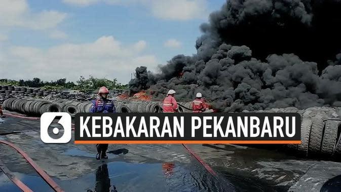 VIDEO: Kebakaran Vulkanisir Ban Karyawan dan Warga Panik
