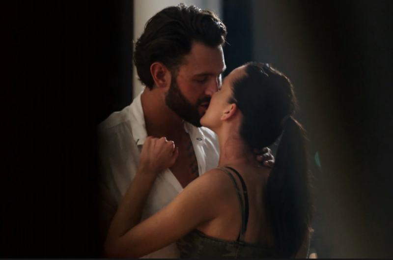 Ines and Sam's steamy affair may have disqualified them from a spot on the red carpet. Photo: Nine