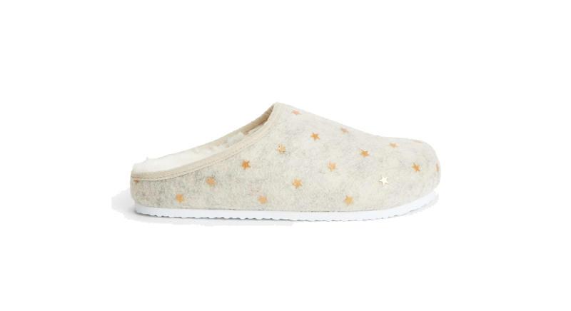 Mini Star Footbed Mule Slippers