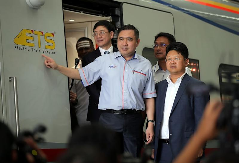 Chinese Ambassador to Malaysia Bai Tian (right) visits the China Railway Rolling Stock Corp (CRRC) Rolling Stock Centre with Transport Minister Anthony Loke in Batu Gajah January 3, 2019. ― Picture by Farhan Najib