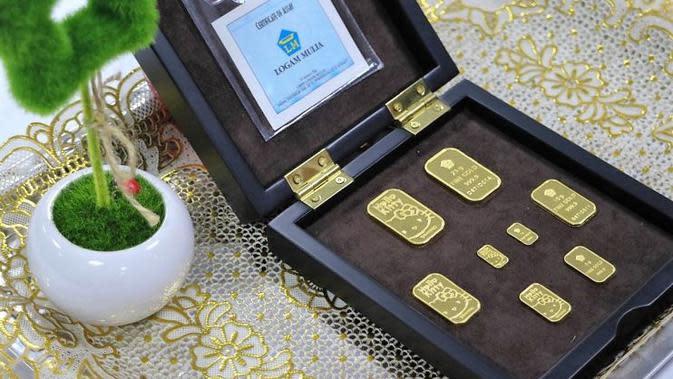 Produk baru Antam, emas batangan motif Hello Kitty (minted-bar Hello Kitty).