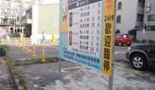 寫錯?台南安平區停車場 1小時收費8元