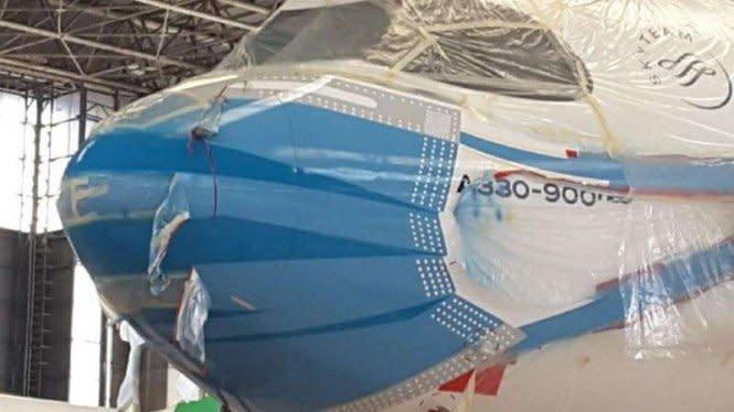 Pesawatnya Pakai Masker, Garuda Komitmen Cegah Penyebaran Corona