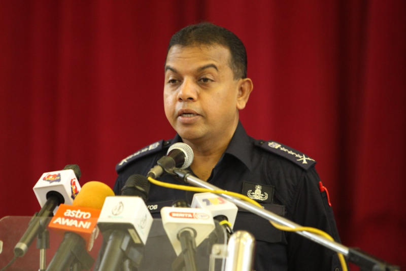 Johor police chief Datuk Ayob Khan Mydin Pitchay said police will focus and increase their operations in Johor's western coast. — Picture by Ben Tan