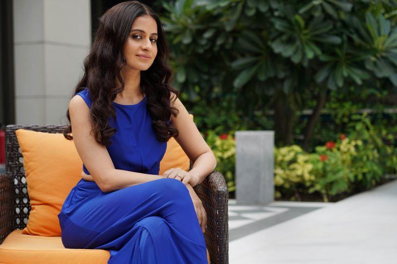 Rasika Duggal poses during an exclusive interview for the promotion of Amazon Prime's new series Mirzapur, at The Oberoi, on November 15, 2018 in New Delhi, India.