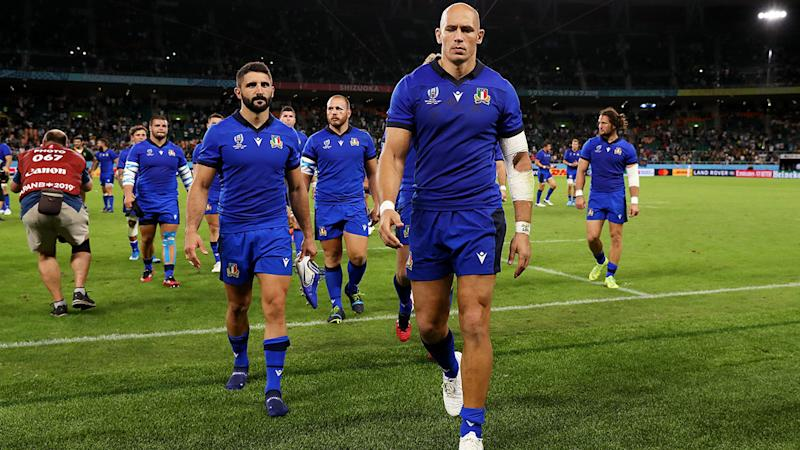 Sergio Parisse, pictured here in action for Italy at the Rugby World Cup.