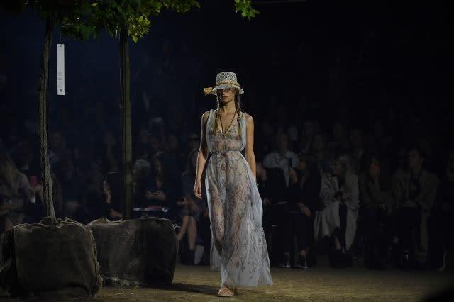 Rebecca Leigh Longendyke walking for Dior. Paris, September 24, 2019