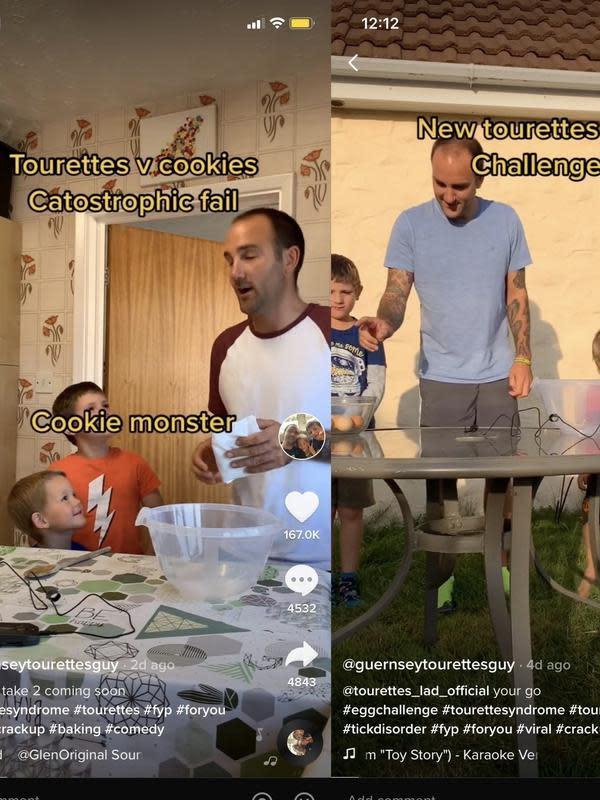 Glen Cooney bersama anak-anaknya menggunakan aplikasi TikTok/dok. Bussinerinsider