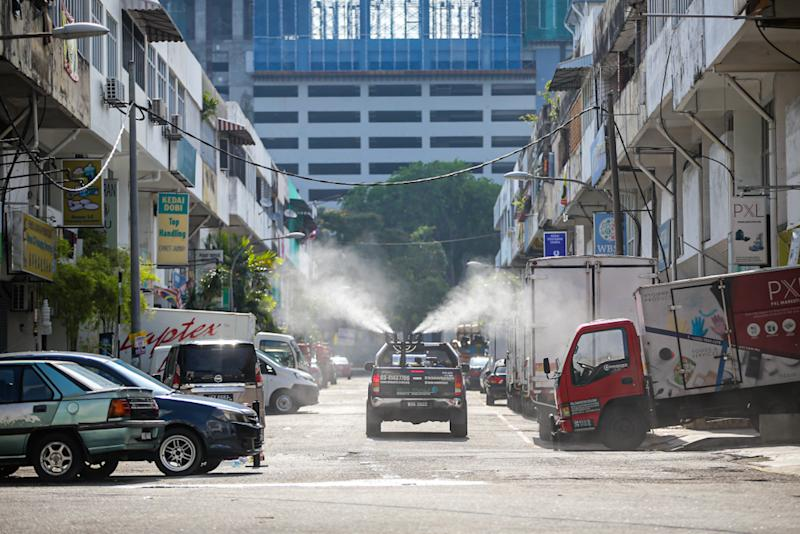 The sanitisation activities were carried on public space outside the mosque's area, including the roads.
