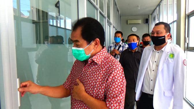 RSI Banjarnegara Sulap Lahan Parkir Jadi Ruang Isolasi Covid-19. (Foto: Liputan6.com/Ook untuk Rudal Afgani)