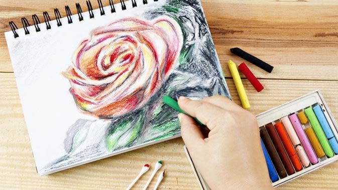 ilustrasi menggambar mawar (sumber: iStockphoto)