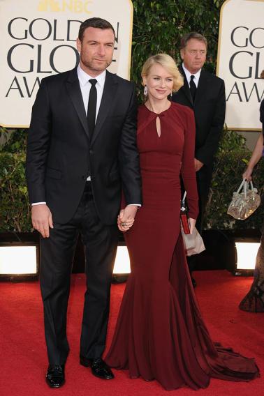 70th Annual Golden Globe Awards - Arrivals: Liev Schreiber and Naomi Watts