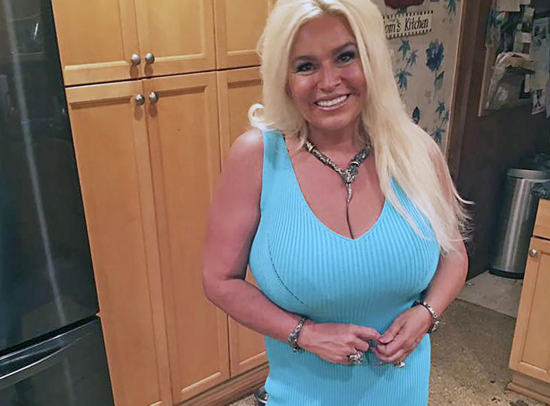 """FILE - This 2017 photo provided by Mona Wood-Sword shows Beth Chapman in Honolulu. Chapman, the wife and co-star of """"Dog the Bounty Hunter"""" reality TV star Duane """"Dog"""" Chapman, died on Wednesday, June 26, 2019. Wood-Sword, a family spokeswoman, said in a statement that Chapman died early Wednesday at Queen's Medical Center in Honolulu after an almost 2-year battle with cancer. She was 51. (Mona Wood-Sword via AP, File)"""