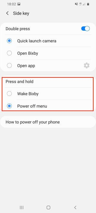 galaxy s20 ultra tips tricks settings hold button setting