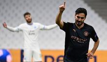 歐冠》德布勞內兩助攻斯特林破門 曼城3-0送馬賽11連敗