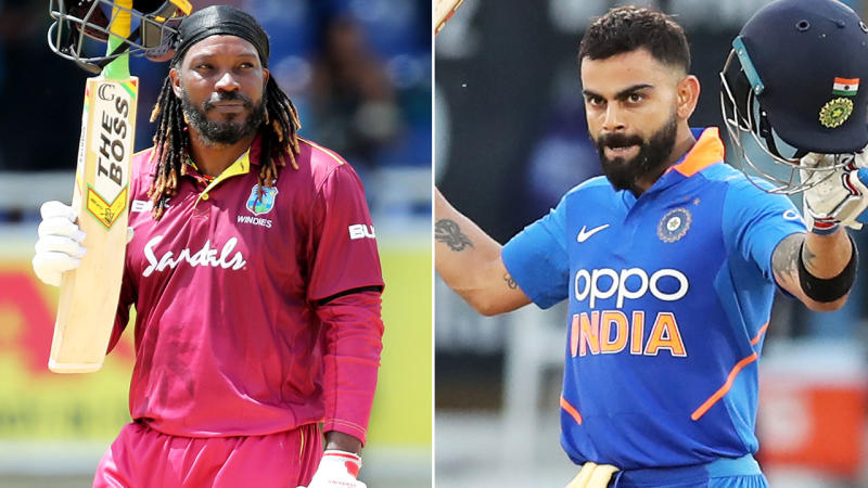 Virat Kohli stole the show in what is expected to be Chris Gayle's final ODI. Image: Getty
