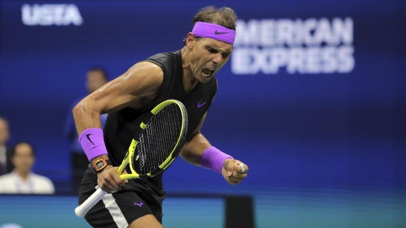 US Open Tennis RAFA FIST PUMP