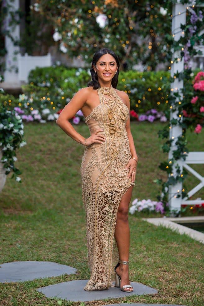 Bachelor contestant Sogand Mohtat. Photo: Channel Ten