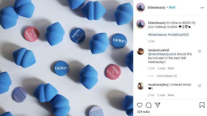 Merek kecantikan Biden Beauty terinspirasi dari calon presiden AS, Joe Biden (Dok.Instagram/@bidenbeauty/https://www.instagram.com/p/CFxG70pneMR/Komarudin)