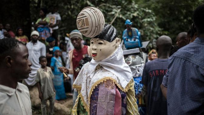 Festival Osun Osogbo, Nigeria Barat(Stefan Heunis/AFP)
