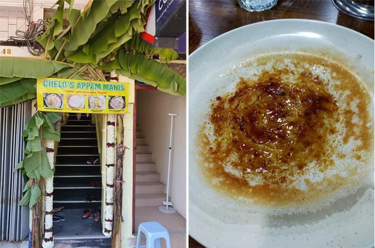 Chelo's Appam Manis has just opened their outlet on top of Restoran VRN Uncle Muniz (left). Mohan's Appam (formerly known as Poomy's Kitchen) serves brown sugar appam (right). — Picture courtesy from Chelo's Sweet Appam's Facebook page