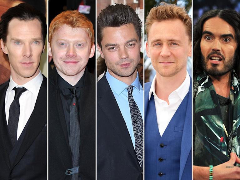 Benedict Cumberbatch, Rupert Grint, Dominic Cooper, Tom Hiddleston, and Russell Brand
