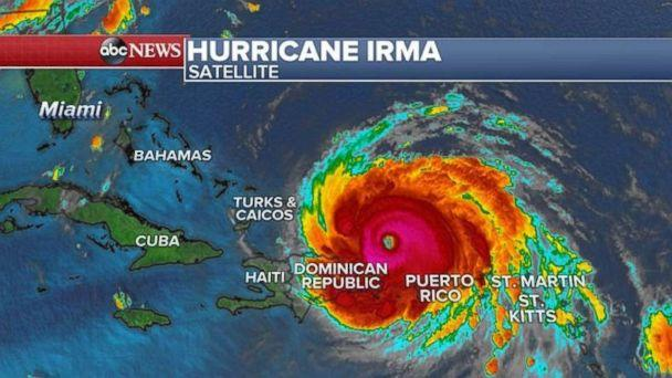 A satellite image of Hurricane Irma as of 5 a.m. on Thursday, Sept. 7, 2017. (ABC NEWS)