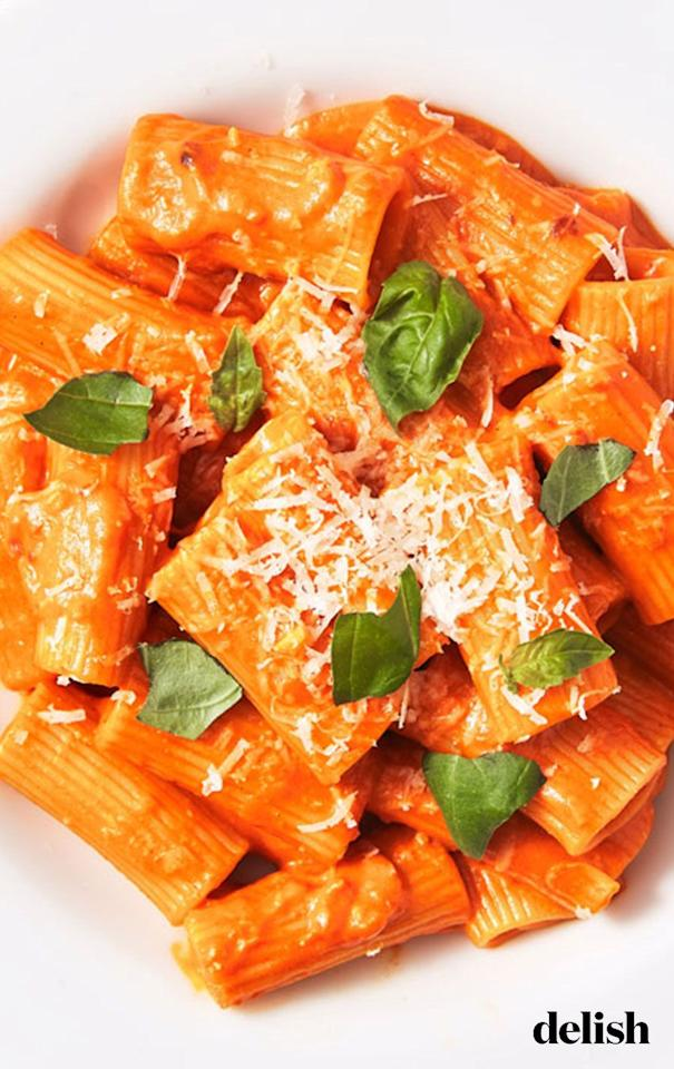 """<p>True story: This is the best vodka sauce the Delish team has ever tried.</p><p>Get the recipe from <a href=""""https://www.delish.com/cooking/recipe-ideas/a26556220/penne-alla-vodka-recipe/"""" target=""""_blank"""">Delish</a>.</p>"""