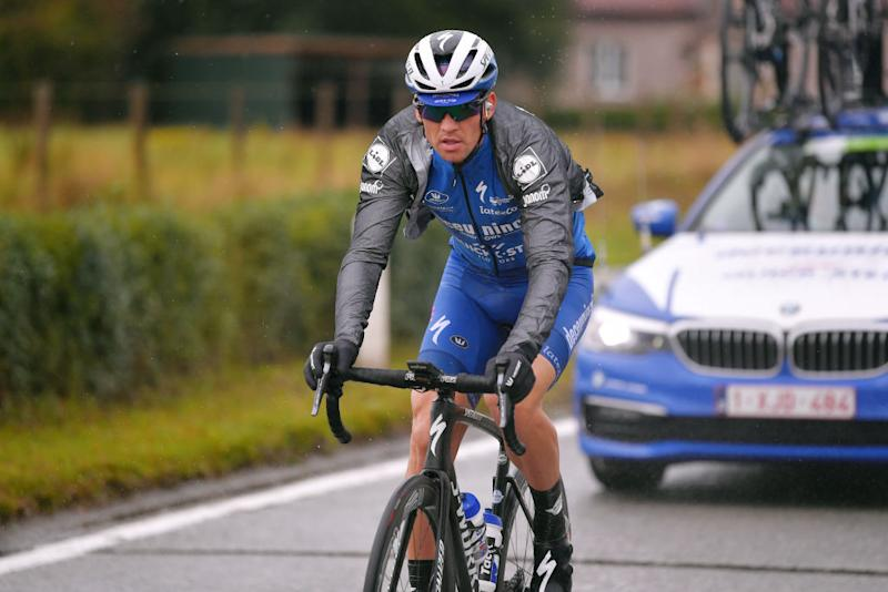 Zdenek Stybar fights through the rain at the BinckBank Tour