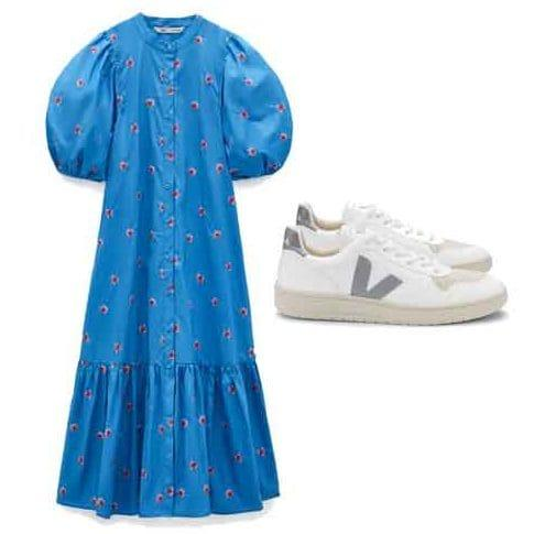 dress and trainers
