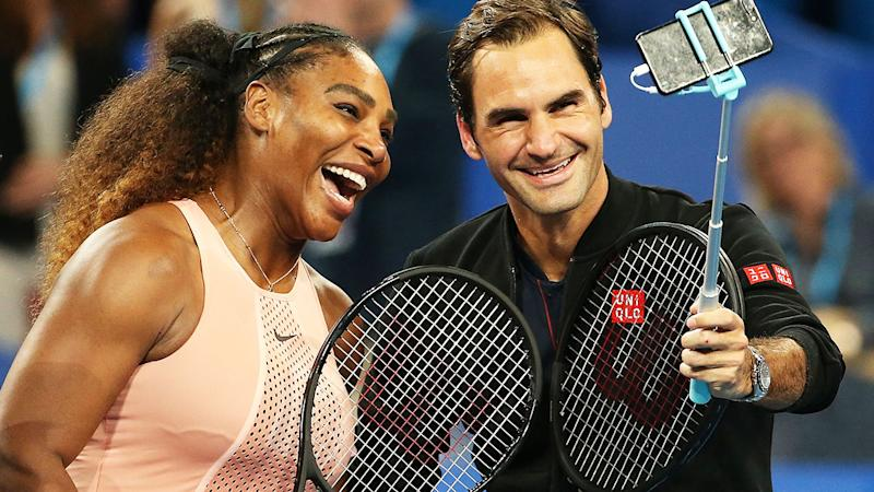 Serena Williams and Roger Federer, pictured here at the 2019 edition of the Hopman Cup.
