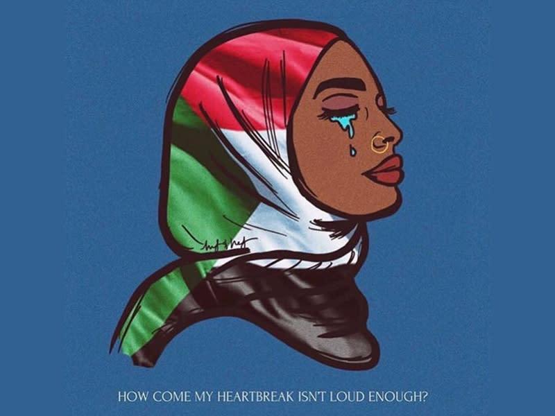 #BlueForSudan 聲援蘇丹