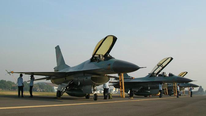 Pesawat Tempur TNI AU Jet F-16 (tni-au.mil.id/alexsidhartaimages)