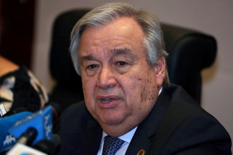 U.N. chief says global recession due to coronavirus 'a near certainty'