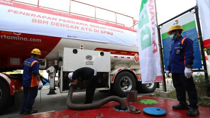 PT Pertamina (Persero) meresmikan penerimaan perdana bahan bakar minyak (BBM) dengan Automatic Tank Gauge (ATG) Custody Transfer di tangki pendam Stasiun Pengisian Bahan Bakar Umum (SPBU).