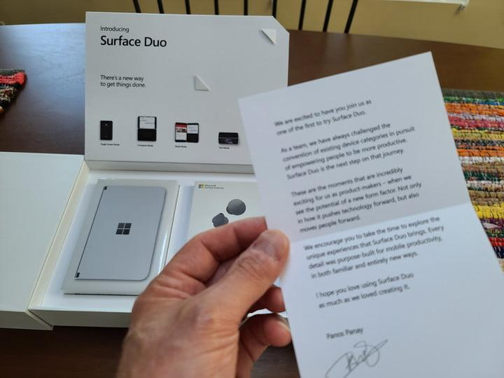 surface duo unboxing first impressions note from panos