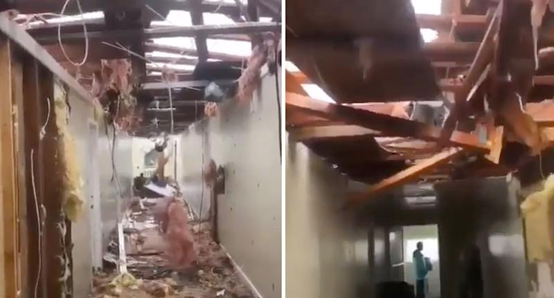 Extensive damage from inside a Bahamas residence. Source: Instagram
