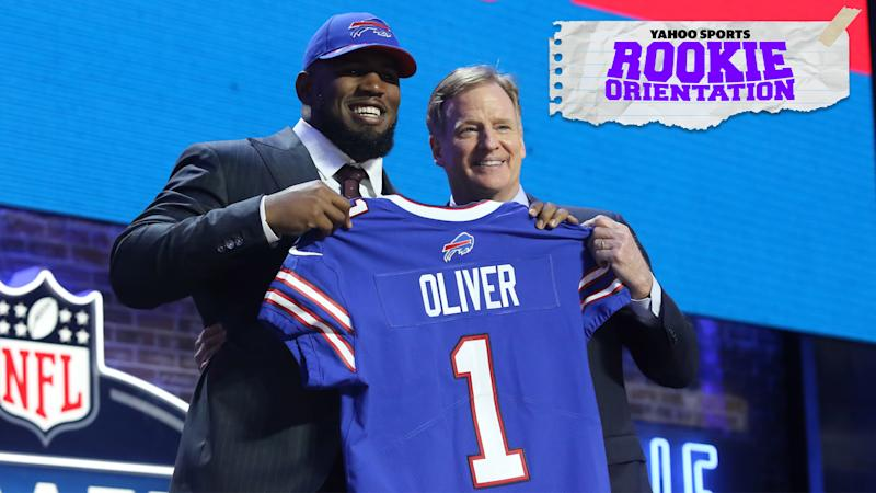 Buffalo Bills rookie defensive lineman Ed Oliver was selected 9th overall at the 2019 NFL Draft and is the subject of this week's Rookie Orientation, presented by Yahoo Sports. (Photo by Michael Wade/Icon Sportswire via Getty Images)