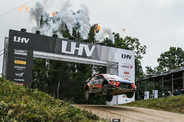 Home boy Tanak takes Estonia lead