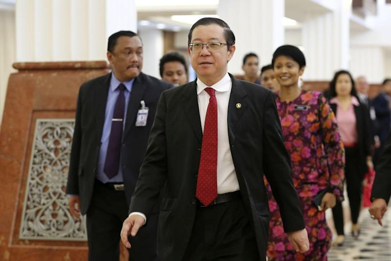 Finance Minister Lim Guan Eng is pictured at Parliament in Kuala Lumpur March 26, 2019. — Picture by Yusof Mat Isa