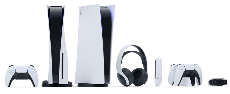 PlayStation5 and PlayStation5 Digital Edition. Some accessories sold separately. Image via PlayStation.