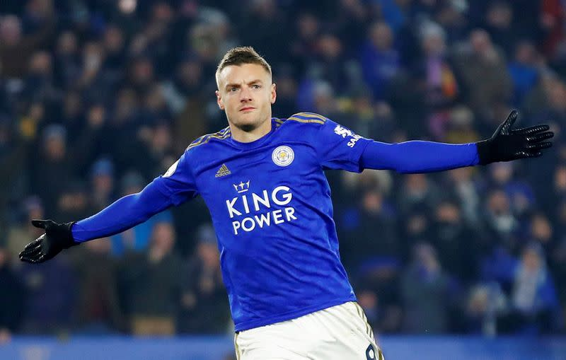 Vardy scores again as Leicester win seventh straight match