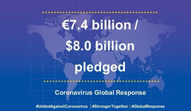 EU announces fundraising totals on Monday in the global campaign to fight the coronavirus. Image: Twitter