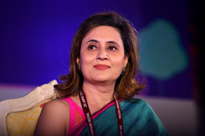 JAIPUR, INDIA - JANUARY 28: Sagarika Ghose during Do Liberals Stifle Debate session on the fifth day of ZEE Jaipur Literature Festival 2019, at Diggi Palace on January 28, 2019 in Jaipur, India. (Photo by Amal KS/Hindustan Times via Getty Images)