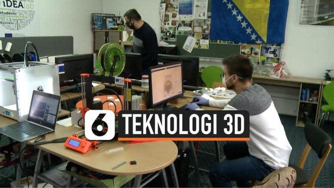 VIDEO: Mahasiswa Produksi Masker dengan Teknologi Printer 3D