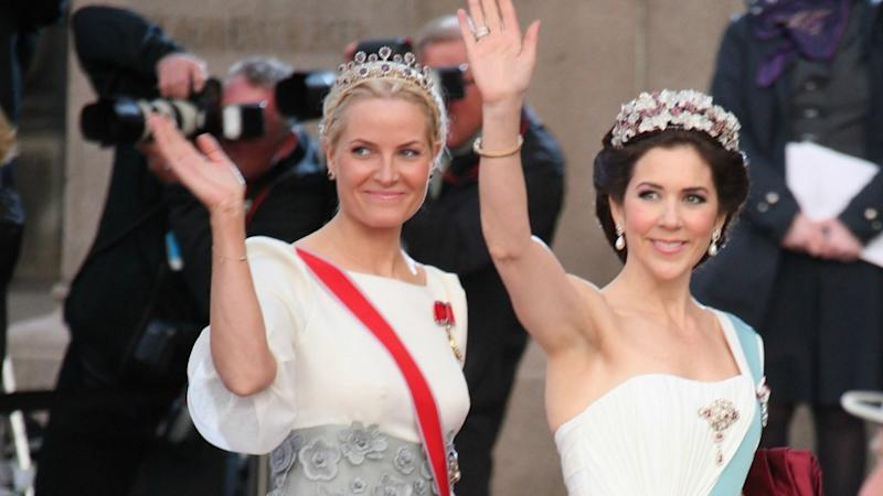 Crown Princess Mette-Marit of Norway with Princess Mary of Denmark. Photo: Getty Images