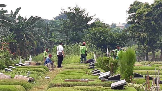 Pemakaman Glenn Fredly. (Sumber: Kapanlagi)